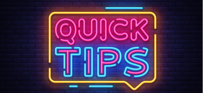 Quick Tips neon sign